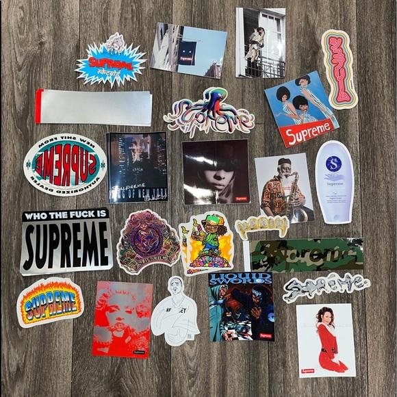 Authentic Supreme Stickers